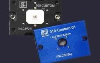 Floating base WLCSP socket and Sapphire lids