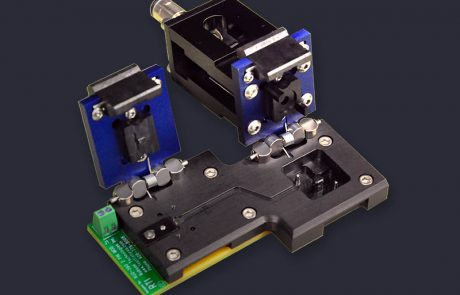 Custom dual stage clamshell socket for flex PCB DUT includes pneumatics