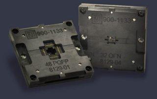 open bottom/backside bare die ic test socket