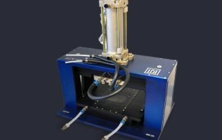 755 series pneumatic press with air hoses for pressure testing